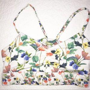 Fabletics floral bra top